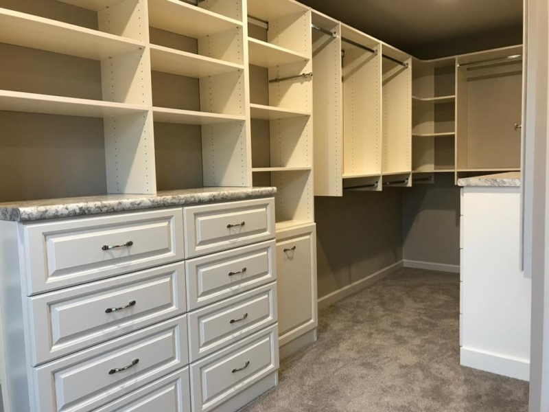 Edwardsville Space-saving Custom Walk In Closet